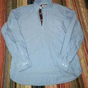 Brooks brothers red fleece popover oxford